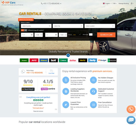 Vip Cars Car Rental Booking Software By Webart Softech